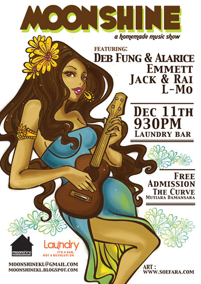 Moonshine, a handmade music show at 11th Dec 2008,9.30pm at Laundry Bar